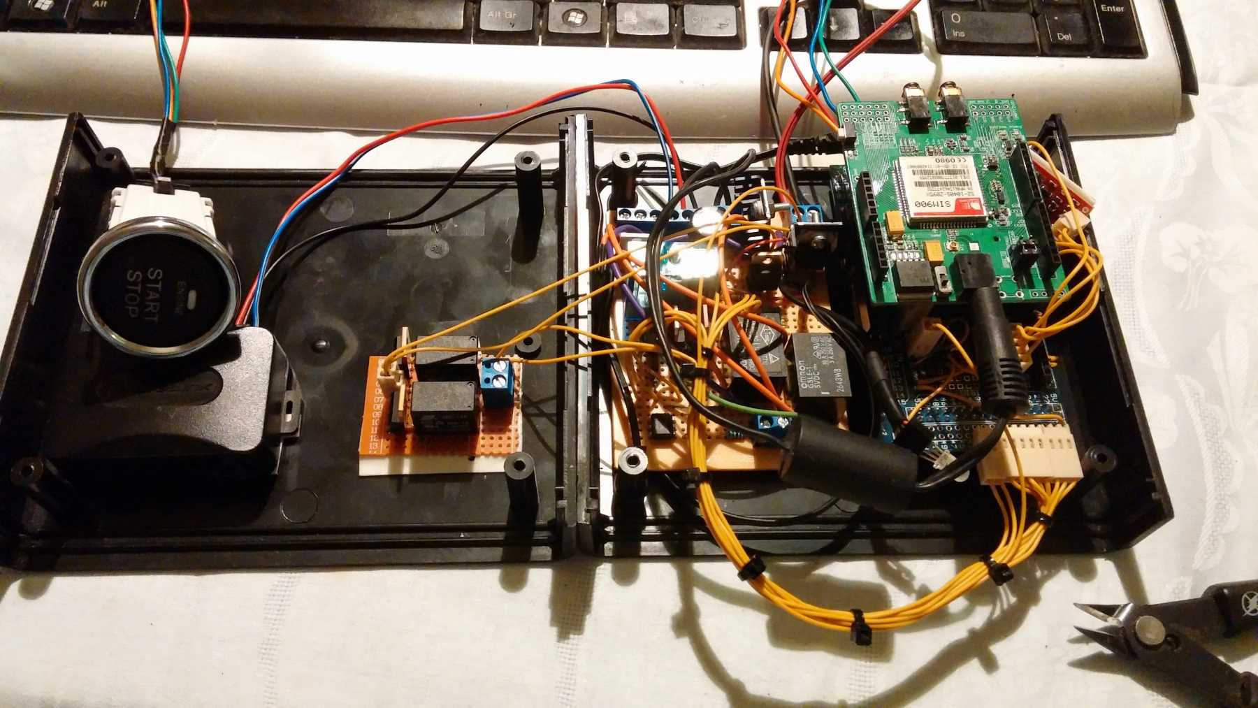 Arduino SMS car starter and keyless entry cover image