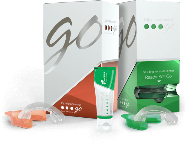 Opalescence Go Melon Mint Box tray and toothpaste
