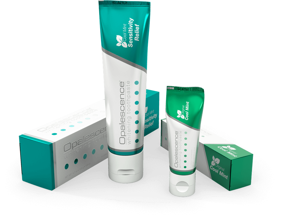 Opalescence Toothpaste New Packaging available in cool mint original and sensitity relief