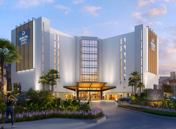 Image of the outside of Delta by Marriott Virginia Beach Bayfront Suites