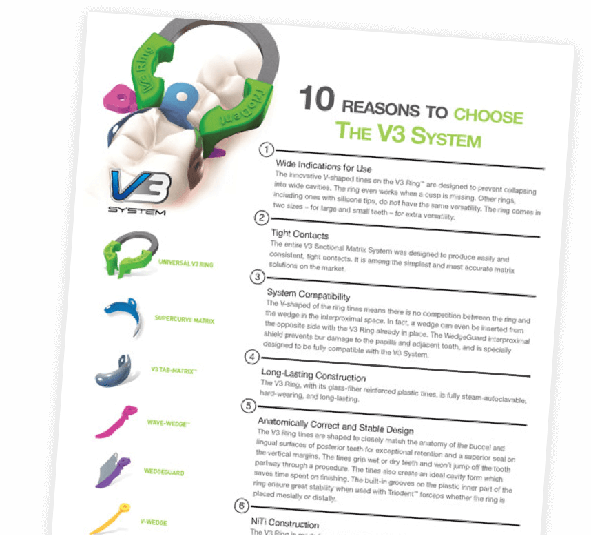 10 Reasons to choose the V3 System