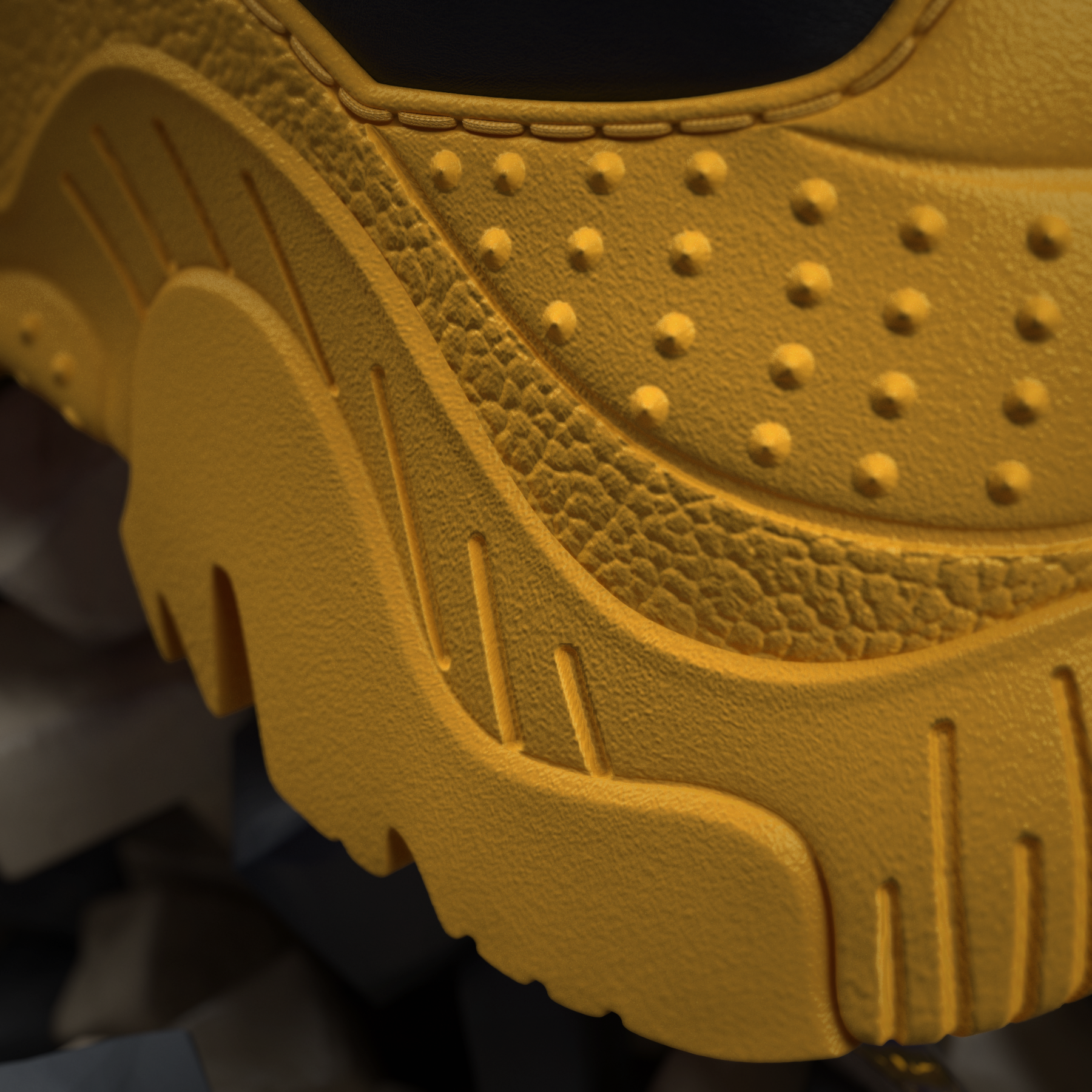 Sneaker's sole detail, back view.