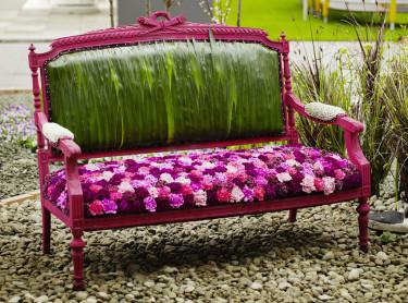 Någonstans att vila! Bild från Nordiska Trädgårdar 2011.