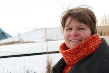Louise Lundberg har varit inblandad i alla moment i takträdgårdens utformning.