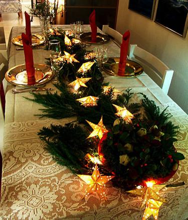 Adventsmiddag med dekoration.Foto och arr: Sylvia Svensson
