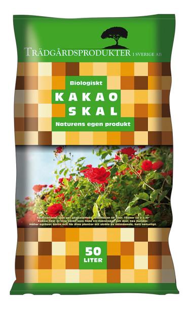 Säck med kakaoskal. Foto: Skandinaviska Trädgårdsprodukter AB