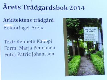 Årets Trädgårdsbok 2014, Arkitektens trädgård
