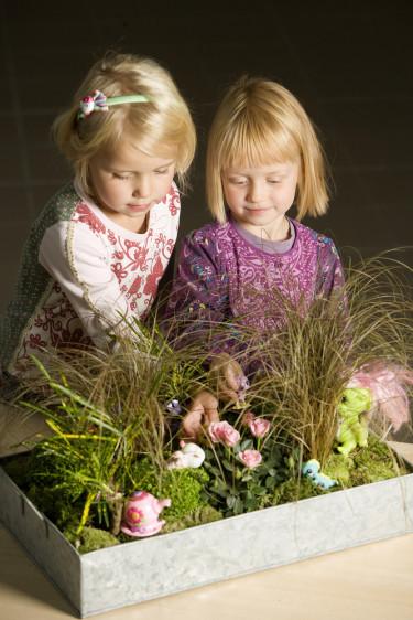 Kul lek för barnen i ett eget växtlandskap!