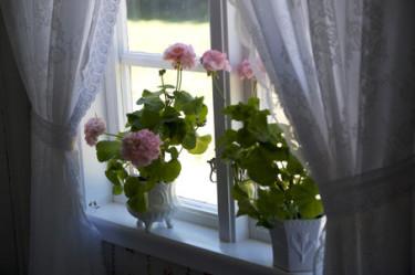 Romantiskt i torpfönstret.