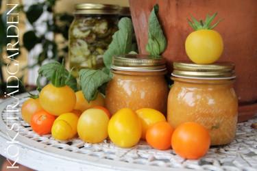 Gul tomatsås är fräsch och lättlagad.