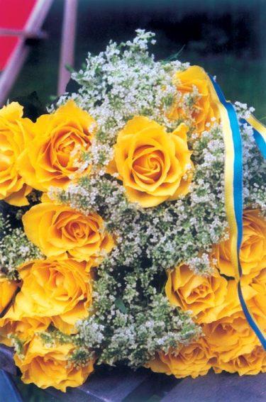 Examensbukett. Foto: Blomsterfrämjandet.