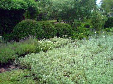 Trädgårdens vackra, men enkla och hållbara gröna rum som är så typiskt för Ulla Molin.