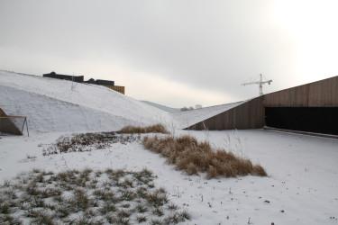 Den enorma takparken ligger än så länge begravd i snö och kyla. Men snart grönskar det här och den mest märkvärdiga vegetation breder ut sig mitt i staden.