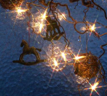 Julfönster. Foto + arr: Sylvia Svensson