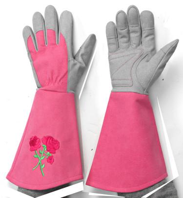 Handskar som skyddar en bit upp på  armen.
