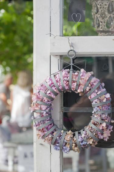 Hortensiakrans. Foto: Blomsterfrämjandet