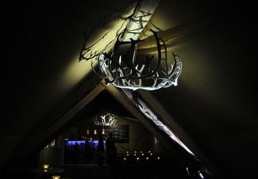 Lapplandsrestaurang i kåta. Foto: Bernt Svensson