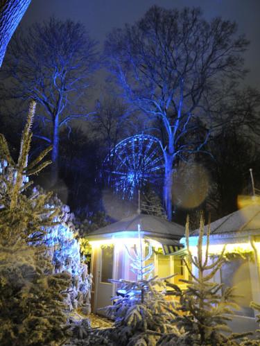Pariserhjulet i julbelysning. Foto: Bernt Svensson