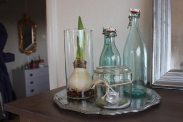 Ett glasarrangemang i sin enkelhet.