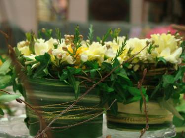 En kul installation på mässan som hette Blommigt kafferep, arrangerat av elever från floristutbildningen, praktiska gymnasiet i Gävle. Jättefint! Foto: Katarina Kihlberg