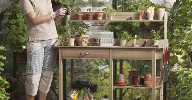 Ett planteringsbord kan vara både vackert och funtionellt.