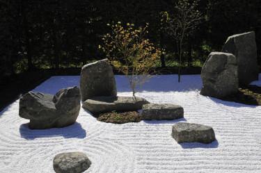 Japansk krattad stenträdgård. Foto: Bernt Svensson