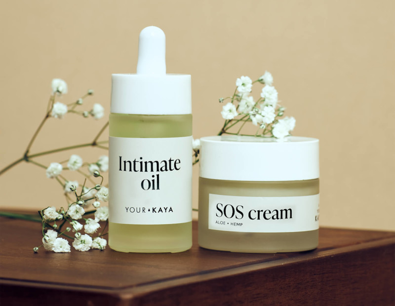 Your KAYA intimate oil and SOS cream