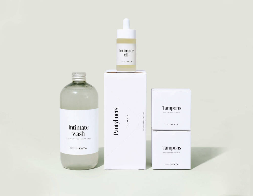 A Your Kaya products set with tampons and intimate oil
