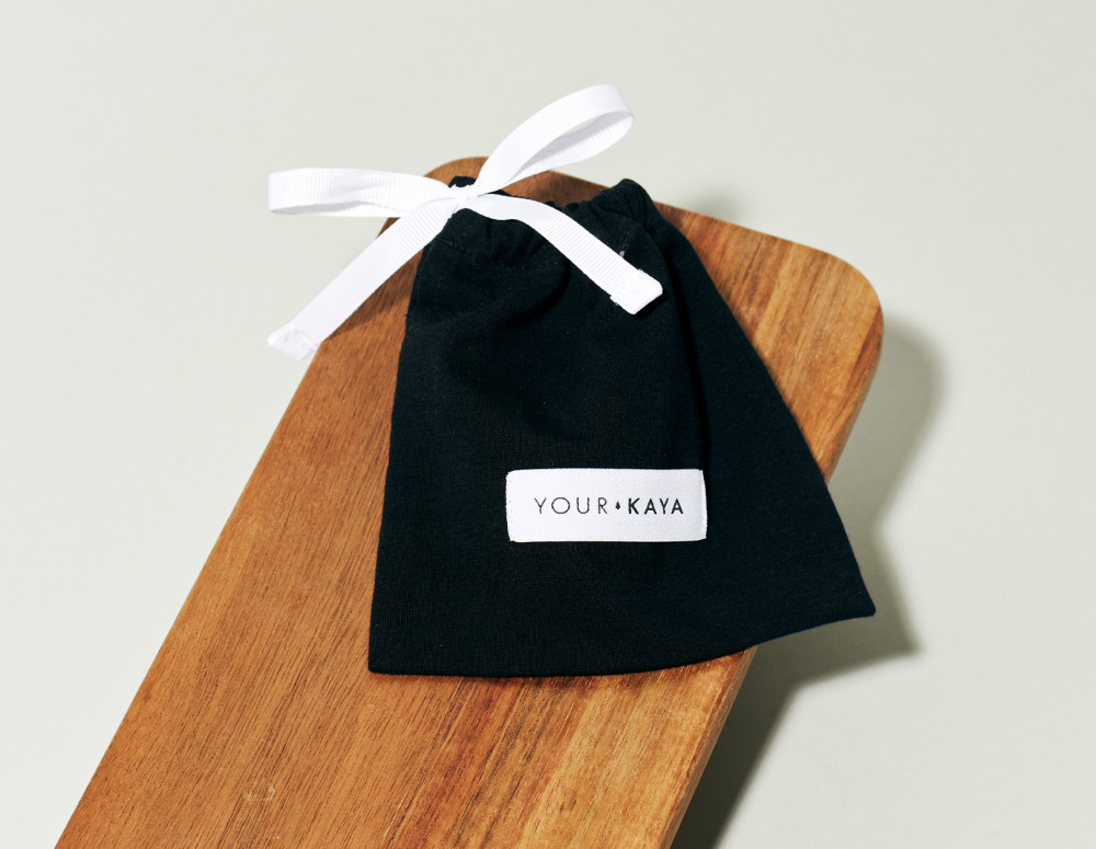 Your KAYA organic cotton pouch