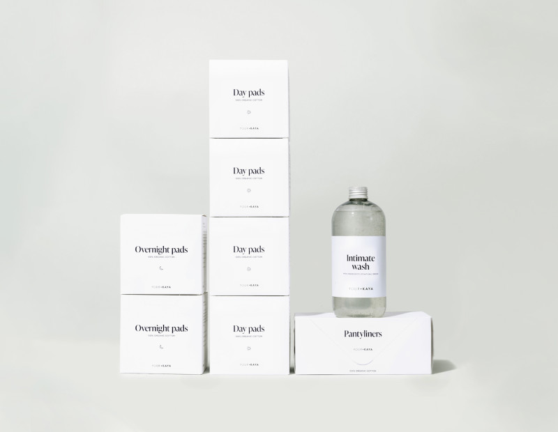 A set of Your Kaya products for two months with pads