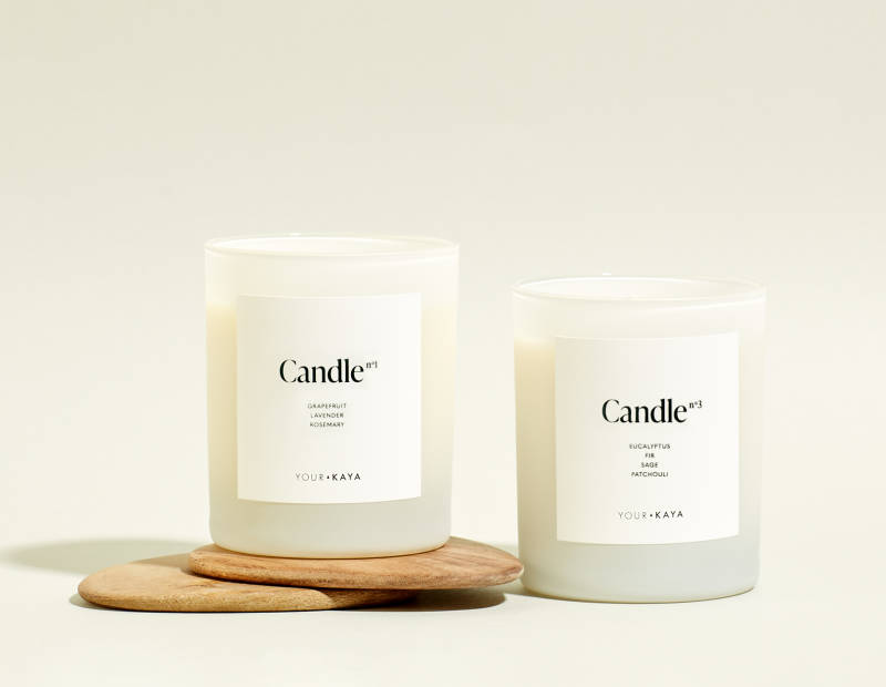 Set of two Your KAYA soy candles