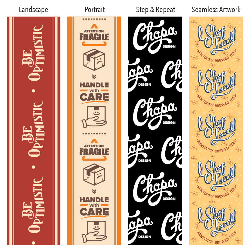 packaging tape layouts