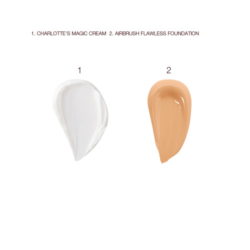 Magic Cream and Airbrush Flawless Foundation Swatches