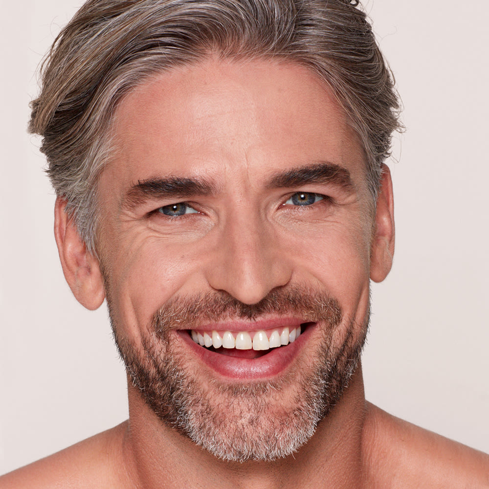 Male model smiling father's day