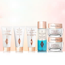 Charlotte Tilbury Travel Sized beauty products
