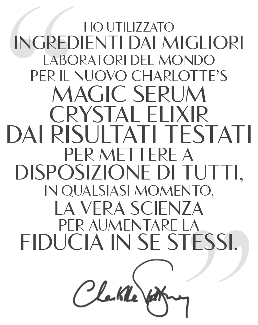 Magic Serum Charlotte Quote Italian