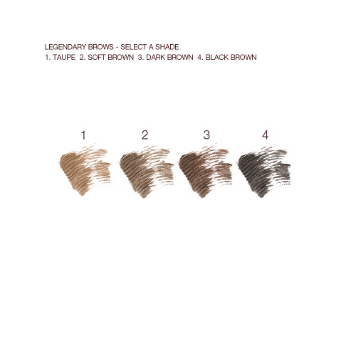 Legendary Brows Gel Swatches Per Shade