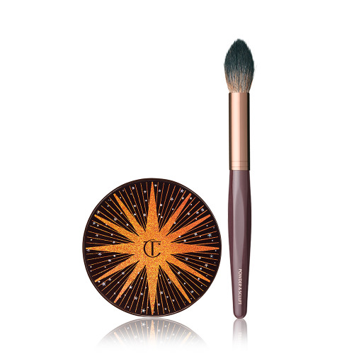 Magic Star Kit With highlighter and Powder and Sculpt brush