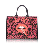 Hot Lips 2 Tote Bag- The Timeless Leopard in Modern Red Leopard