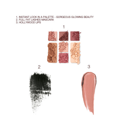 Instant Look In A Palette, Full Fat Lashes and Hollywood Lips Bundle Swatch