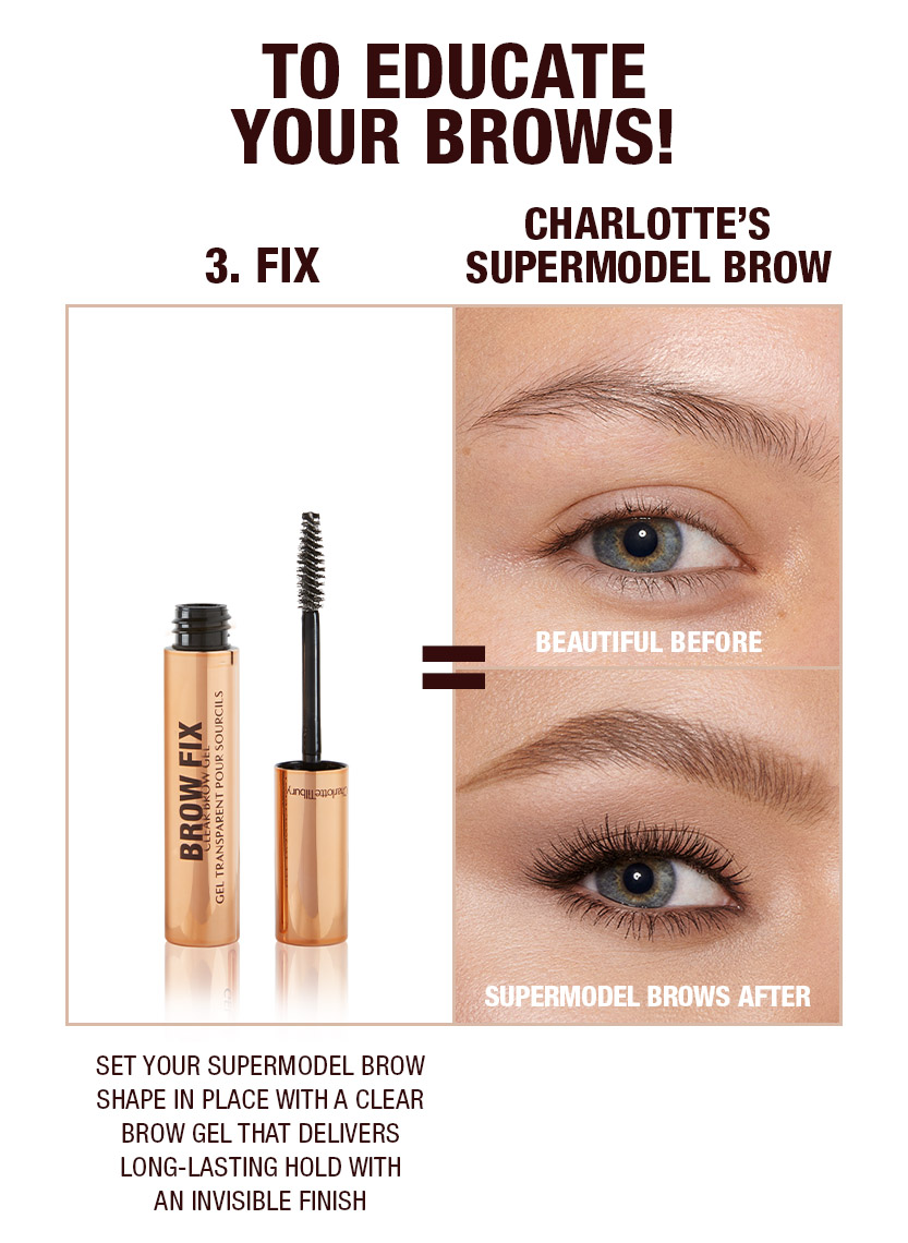 Supermodel brows 3 step routine Soft Brown