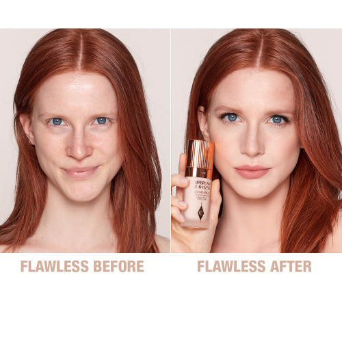 Airbrush Flawless Foundation 2 cool before and after