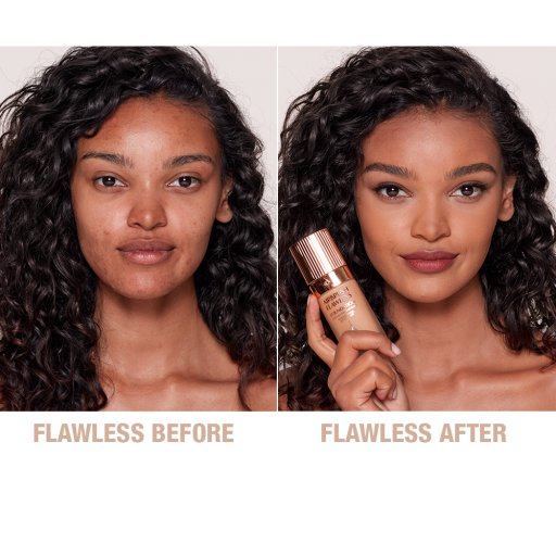 Airbrush Flawless Foundation 9 Cool Before and After