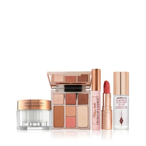 Look of Love bundle 3 with Instant Look in a Palette, Lipstick, Mascara, Travel size Setting Spray and Magic Cream 30ml