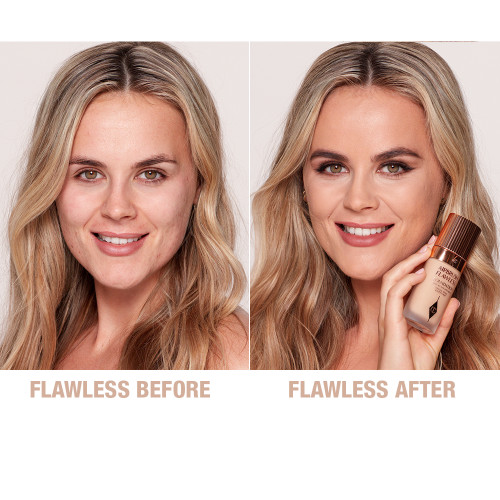 Airbrush Flawless Foundation 6 neutral before and after