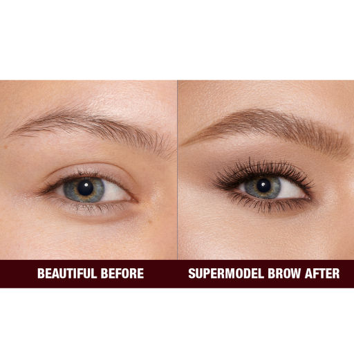 Before and After Close Up Eyebrow Image in Shade Soft Brown