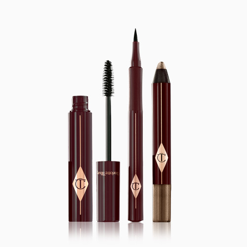 Eye Enhancing Trio Pack Shot with an eyeshadow pencil, eyeliner and mascara