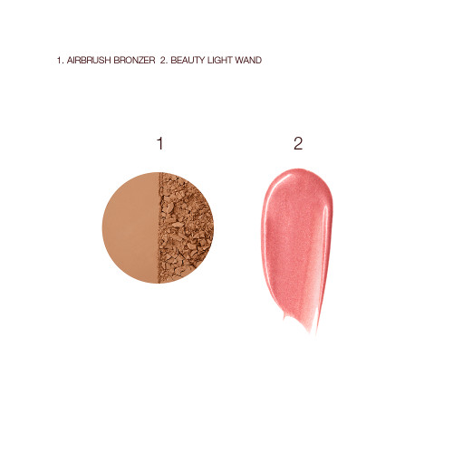 Airbrush Bronzer and Beauty Light Wand Swatch