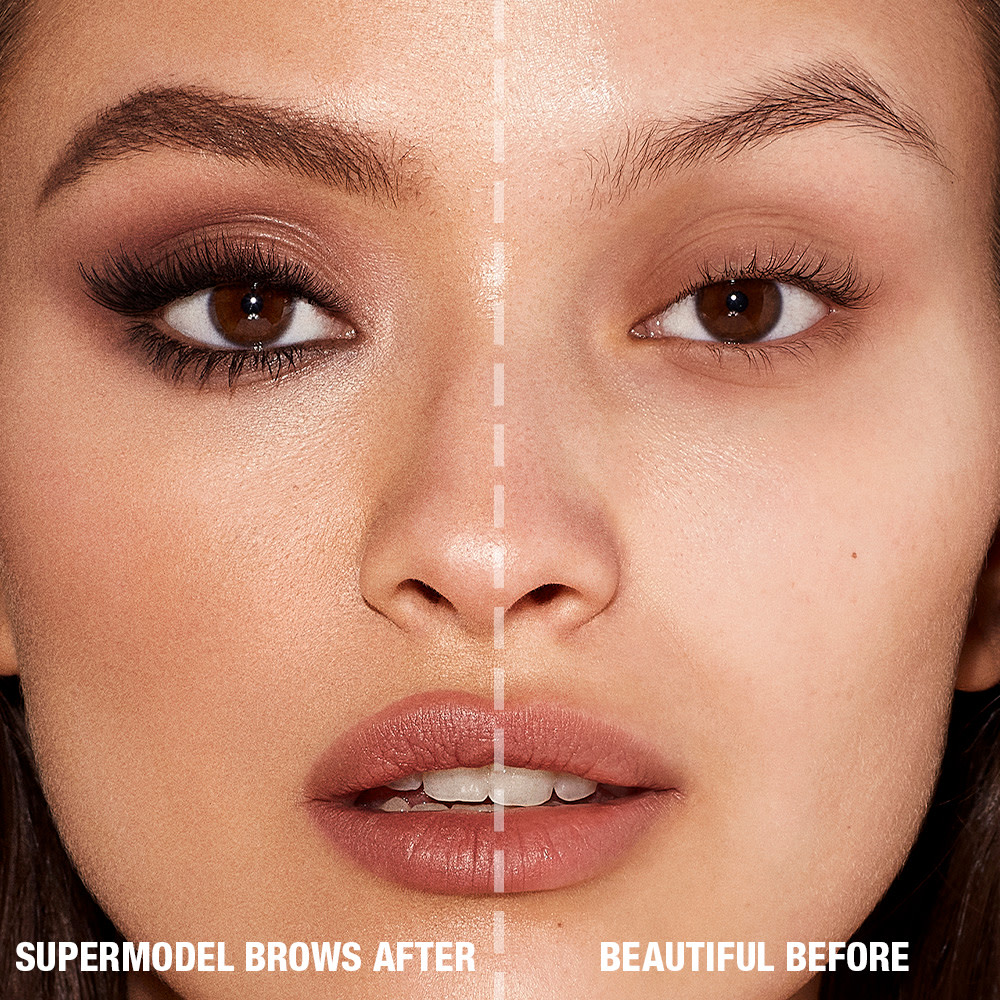 Before and After Model for Brow Products in Medium Brown