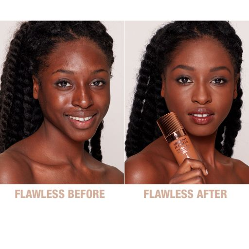 Airbrush Flawless Foundation 14 Cool Before and After